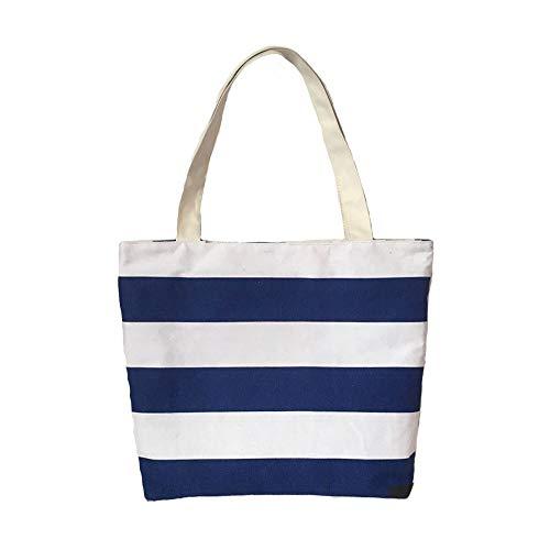 Bleu Simple Sac Nouveau Sac De pour Décontracté Bandoulière Blue Femme Toile À Simple GWQGZ Iw7d65xx