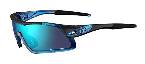 Tifosi Optics Davos Cycling Sunglasses w/3-Lens Interchange Kit, Crystal Blue