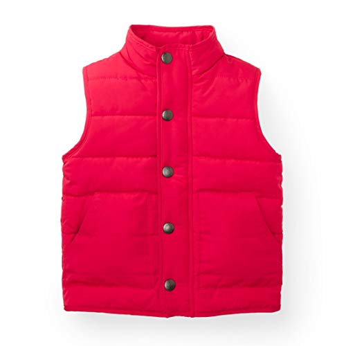(Hope & Henry Boys Red Puffer Vest Made with Recycled Polyester Fibers)