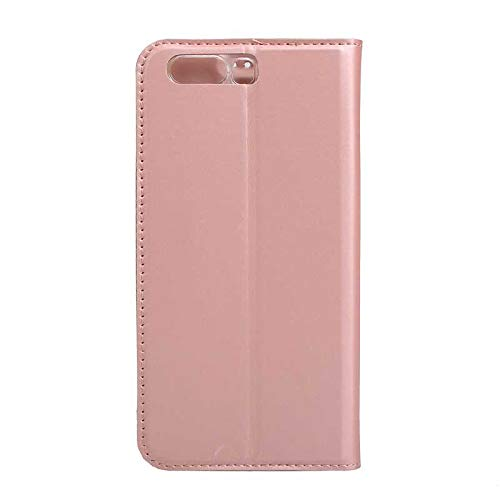 Huawei P10 Case, UNEXTATI Ultra Slim Wallet Flip Case with Card Holder and Magnetic Closure, Full Body Protection Bumper Cover for Huawei P10 (Rose Gold #2)