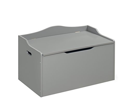 Badger Basket Bench Top Toy Box, Gray by Badger Basket