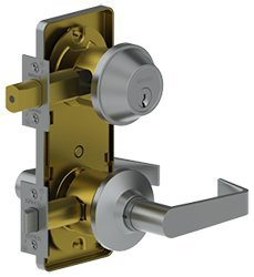 Hager 3753 Interconnected Lock August SCC KD Grade 2 US3 Bright Brass by Hager