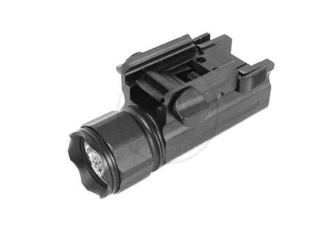 AIM Sports 150 Lumen Tactical Compact Flashlight w/ Quick-Release Weaver Mount