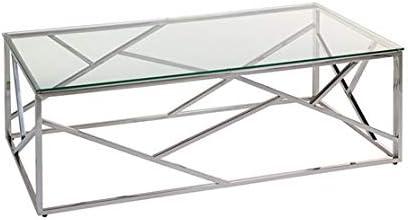 Mesa de Centro con Cristal Abstract: Amazon.es: Hogar