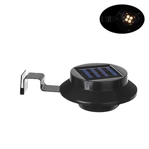 2 luces LED solares para canalones de MaxGoods, para exteriores, jardín, patio, pared, valla, panel solar + luz de plástico...