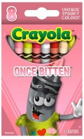 crayola limited edition halloween crayons once bitten pink - Crayola Halloween Crayons
