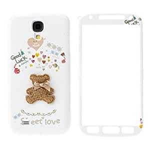 Lovely Bear Pattern Front and Back Case for Samsung Galaxy S4 I9500