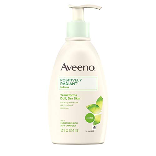 Aveeno Positively Radiant Body Lotion, 12 Fl. Oz (Pack of 3) (Aveeno Radiant Spf 15)