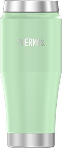 Thermos 16 Ounce Stainless Steel Travel Tumbler, Matte Frosted Mint