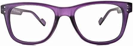 Retro Eyeworks Superflex Wayfarer Anti-glare Reading Glasses 51-19 MM 1.75x Purple