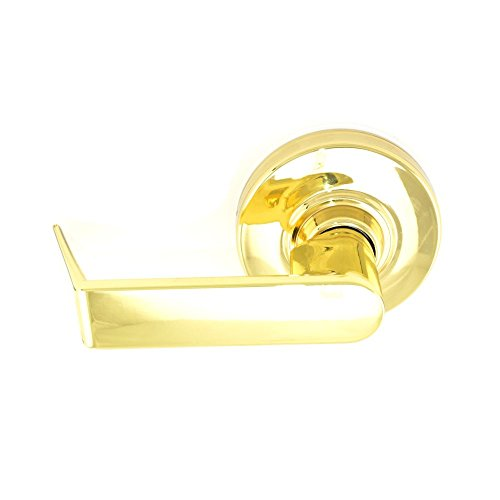 Schlage commercial ND170RHO605 ND Series Grade 1 Cylindrical Lock, Single Dummy Trim, Rhodes Lever Design, Bright Brass Finish by Schlage Lock Company