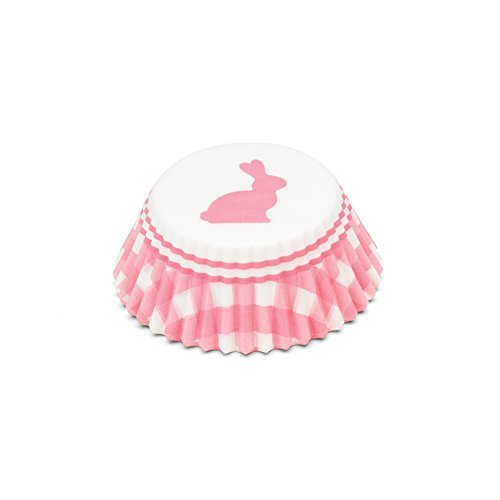 - Fox Run 8034 Gingham Bunny Bake Cups, 50 Count, Pink