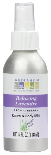 Aura Cacia Room and Body Mist, Relaxing Lavender, 4 Fluid Ounce Aura Cacia Relaxing Lavender