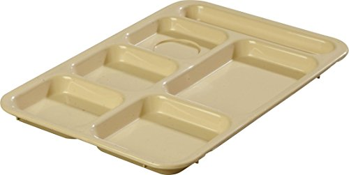 Carlisle 614R25 ABS Right-Hand 6-Compartment Divided Tray, 14