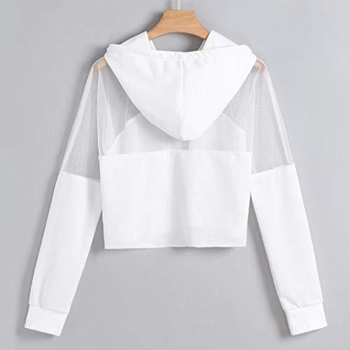Manche 2 Pull Mode Shirt Florale Ananas Femme Gaze Imprission Chic Sweat Longue Hoodie Lettres Blanc Vetement Rayures Transparente SANFASHION YPwqtIz