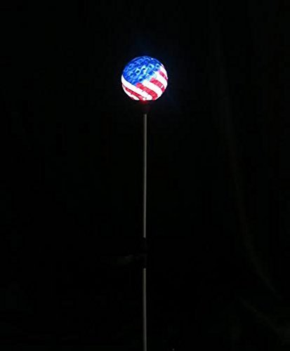 solar usa flag ball led lights  solar mosaic americana