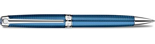 Caran d-ache Léman Grand Twist Retractable Pen Black, Blue 1pc (S) - Ballpoint Pens (Twist Retractable Pen, Blue, Silver, Black, Blue, Silver, Fine, Ambidextrous