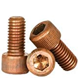 Hex Screw - Allen Screw - Socket Head Cap Screw - Silicon Bronze - #8-32 x 1/2'' (Quantity: 100), Drive: Hex Socket, Head: Cylindrical
