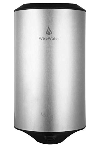 (AB Compact Stainless Steel Commercial-Round Hand Dryer for Public Bathrooms, UL Listed, 1350W (Silver))
