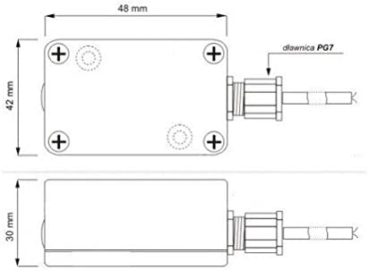 capteur cr/épusculaire IP20//IP65 Interrupteur cr/épusculaire 20A /éclairage de contr/ôle 3 000W