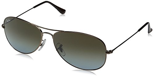 Ray-Ban Cockpit RB3362 Men's Sunglasses - Light Brown/Crystal Sky Blue / - Ray Polarized Ban 3362
