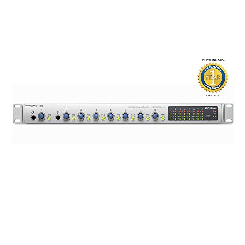 (PreSonus DigiMax D8 8-channel Preamplifier with 48kHz ADAT Output & 1 Year EverythingMusic Extended Warranty Free)