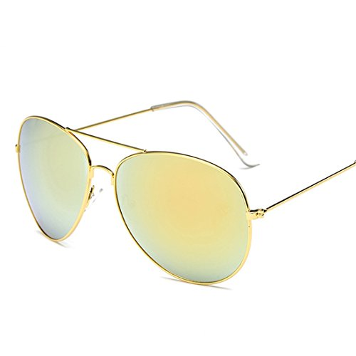 HANYI Premium Military Style Classic Aviator Sunglasses, Polarized, 100% UV protection(Include a Box Case) - Hut Sunglass Refund Gift Card