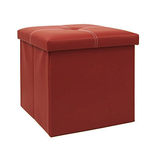 Homfa Faux Leather Folding Shoe Storage Ottoman...
