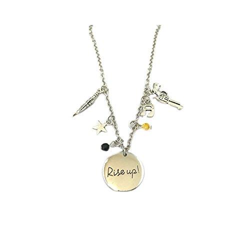 Hamilton Broadway Silver Tone Charm Necklace w/Gift Box by Superheores (Silver Tone Charm Necklace)