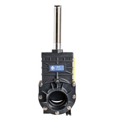 """2"""" Socket PVC Knife Gate Valve with Air Actuator by Praher Valves"""