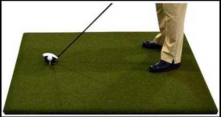 4 x 5 GORILLA Perfect ReACTION Golf Mats. Use Real Wood Tees. At Last a Golf Mat with No Shock, No Bounce No Rubber Tees Required. FREE Ball Tray. Gorilla Urethane Backed Golf Mats. by Gorilla Perfect ReACTION Golf Mats (Image #3)