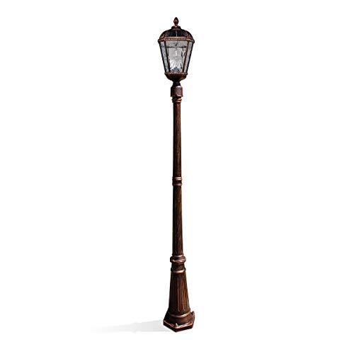 GAMA SONIC Royal Bulb Solar Lamppost, GS Solar Light Bulb, Single Lamp, Bronze GS-98B-S-BB