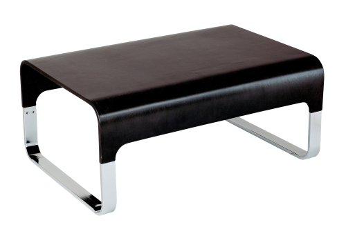 Adesso Regency Coffee Table, Black Walnut/Chrome