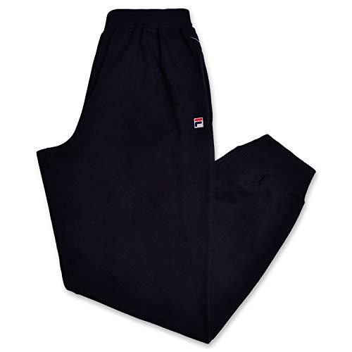 Fila Men's Big and Tall Active Fleece Jogger Sweatpants with Pockets Black 2X (Mens Fila Sport Fleece 2-0 Jogger Pants)