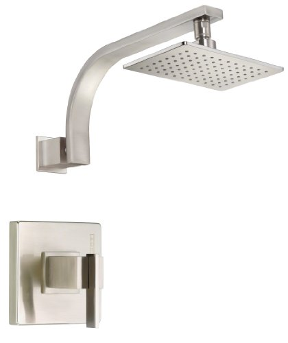 Danze D512544BNT Sirius Single Handle Shower Trim Kit 20 GPM Valve Not Included Brushed Nickel