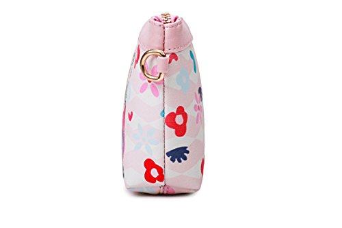 Bag Pink Women's Clutch Wristlet Printed Girl Handbag Ybmhtw Chic Crossbody Series Purse 6wHxntvP