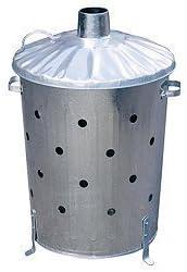 Galvanizado cubo incinerador de jardín Extra agujeros Top calidad papelera por tierras altas: Amazon.es: Bricolaje y herramientas