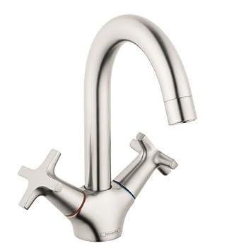 Hansgrohe 71270821 Logis Bathroom Faucet, Brushed Nickel - - Amazon.com