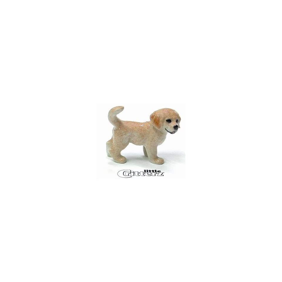 GOLDEN RETRIEVER DOG Puppy Chaser Stands 1 in our series of CHINESE ZODIAC Year of the Dog New Figurine MINIATURE Porcelain LITTLE CRITTERZ LC801