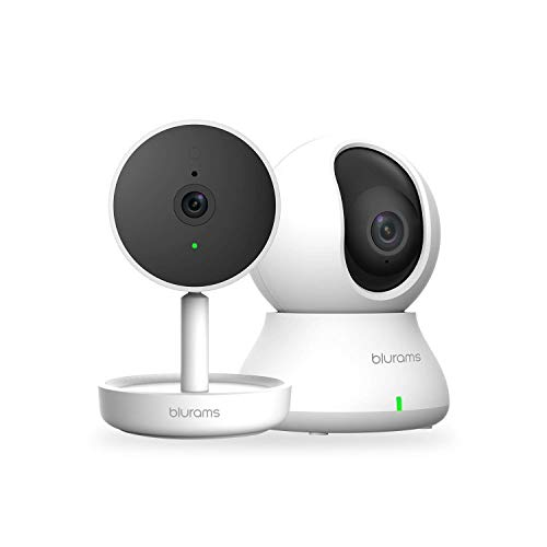 blurams Indoor Security Camera Bundle Set, 1080p Baby Monitor Pet/Nanny Camera w/ Two-Way Audio | Sound/Person Detection | IR Night Vision | Cloud&Local Storage | Works with Alexa and Google Assistant