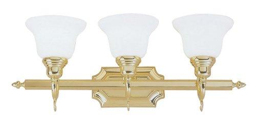 Livex Lighting 3-Light French Regency Polished Brass Bathroom Vanity (Regency 3 Light Vanity)