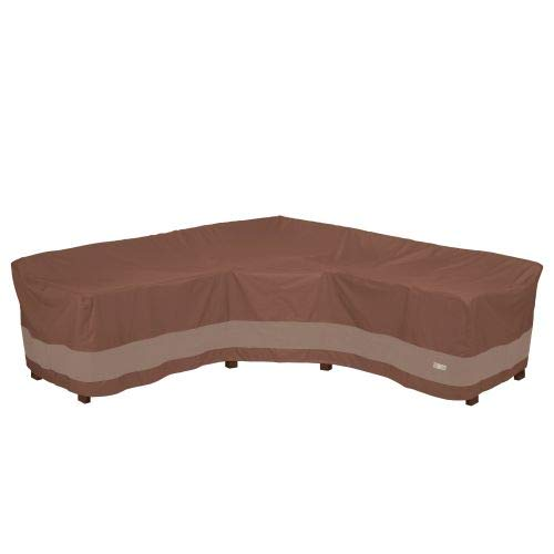 - Duck Covers USC102102 Ultimate V-Shape Sectional Lounge Set Cover, Mocha Cappuccino