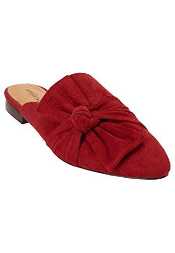 Comfortview The Caroline Mule Crimson