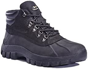 KINGSHOW Mens Snow Boots Genuine Leather Waterproof Slip and Oil Resistance