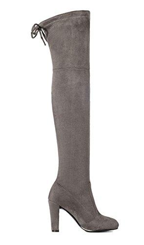 YE YE YE botas clásicas Mujer gris botas Mujer gris clásicas botas r6YRrq