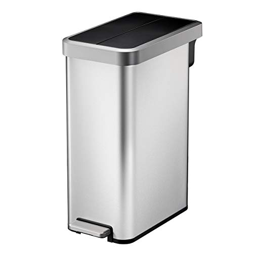 45l stainless steel trash can - 9