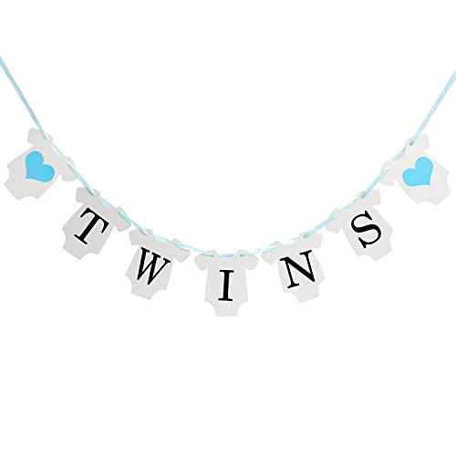 - INNORU(TM It is Twins Baby Show Banner Decorations Gender Reveal Party for Baby Boy Banners