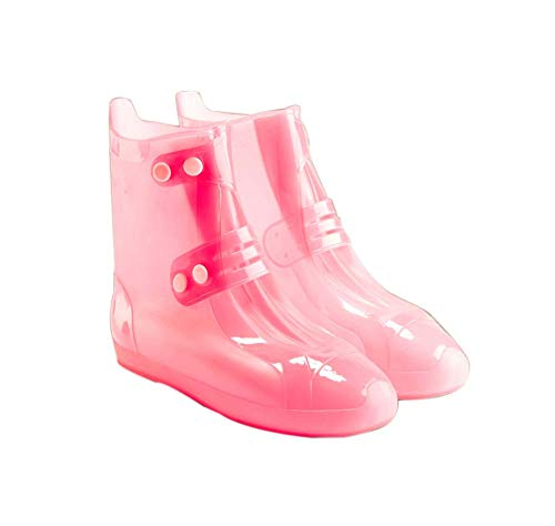 Kids Waterproof Shoe Cover 1 Pair Outdoor Rain Boots Cover for Children Rain Protector, Pink