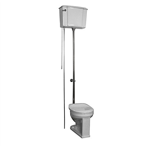 (Barclay 2-413WC Victoria Vitreous China Round Front Adjustable High Tank Toilet)