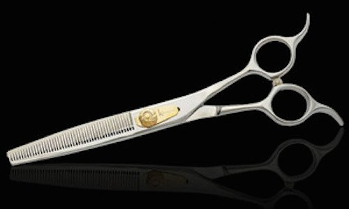 Kenchii Grooming Eric Salas 46 Tooth Bent Shank Thinning Shear KEES